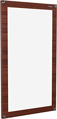 Madhuran Unique Rectangular Wall Mirror 68.7 x 39.5 cm Classic Walnut