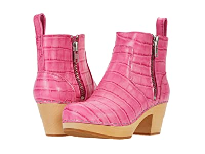 Swedish Hasbeens Zip It Emy (Hot Pink Croc) Women
