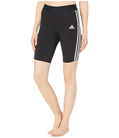 adidas Must Haves 3-Stripes Cotton Short Tights (Black/White) Women