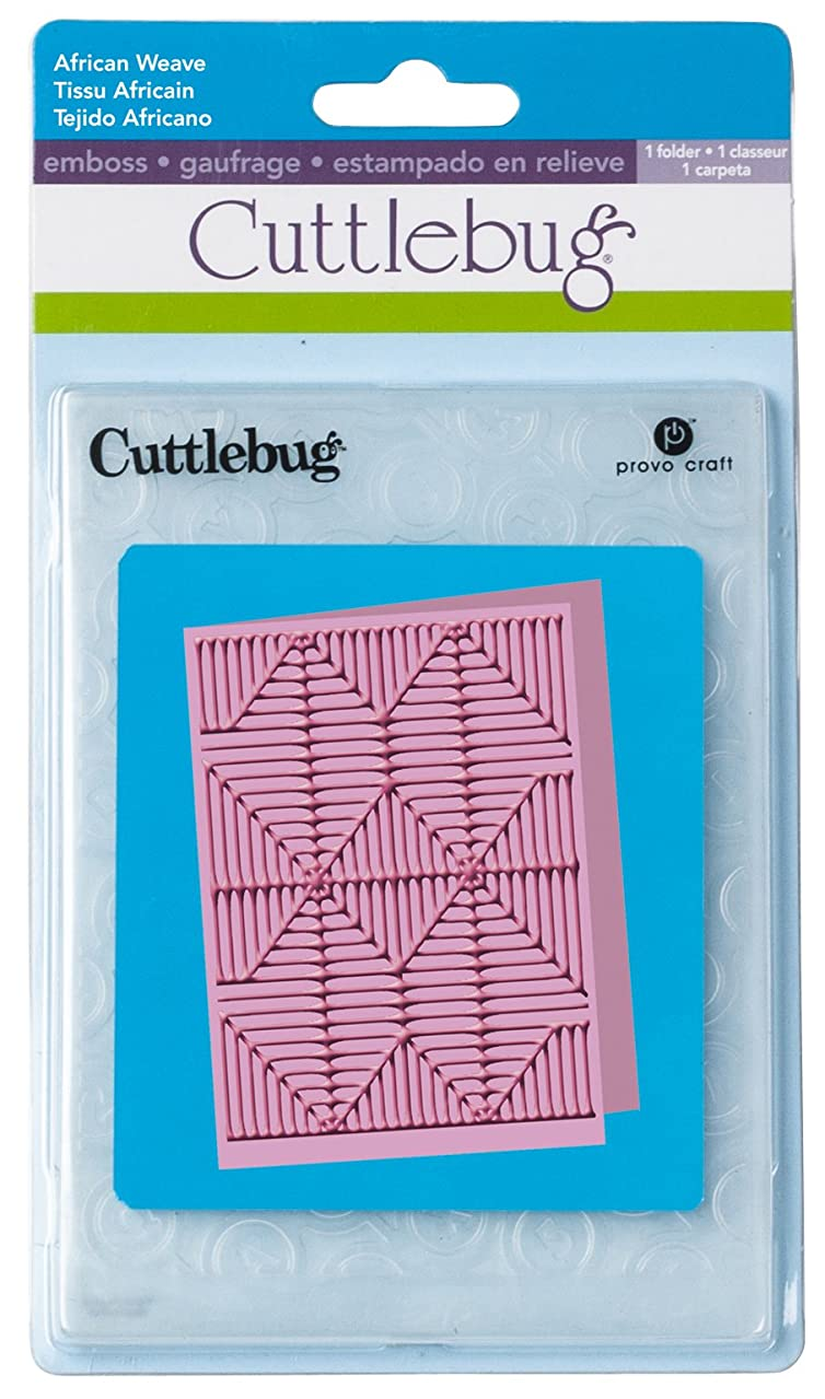 Cuttlebug 5-Inch by 7-Inch Embossing Folder, African Weave