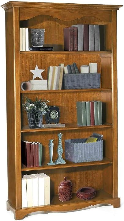Libreria in legno massello tinta noce 120 x 40 x 210 per interno sala da pranzo salotto cucina milani 72887761