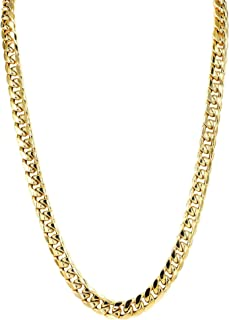 "BH 5 Star Jewelry 10k Gold Mens Miami Cuban Link Chain 5.5mm-13mm // 20""-30 Inches"