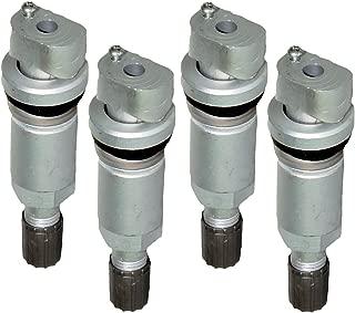 beler 4pcs syst/ème de surveillance de pression des pneus de voiture TPMS capteur valve kit de r/éparation de tige de remplacement