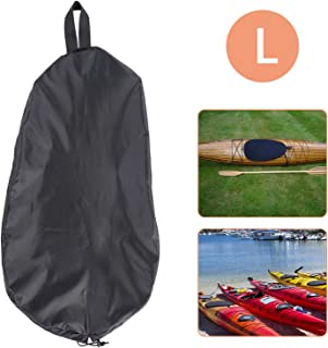 (L, Black) - EEEKit Breathable Adjustable UV50+ Blocking Kayak Cockpit Cover Seal Cockpit Protector Ocean Cockpit Cover