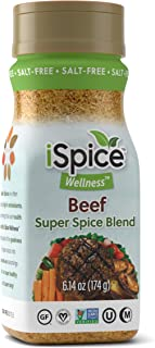 iSpice - Salt-Free | Sugar free | 100% Pure Wellness Beef Super Spice Blend | All Natural | Ready to use as is | No prepar...