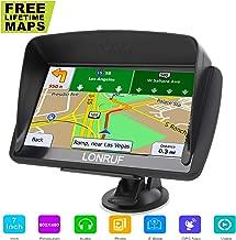 Car GPS Navigation, LONGRUF 7 inch 8GB&256MB GPS Navigation System,Spoken Turn- to-Turn Traffic Alert Vehicle Car GPS Navigator, (Free Update Lifetime Map)