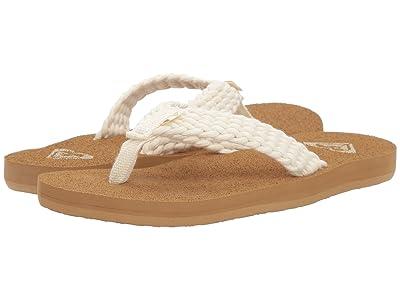 Roxy Kids Porto (Little Kid/Big Kid) (Cream) Girls Shoes