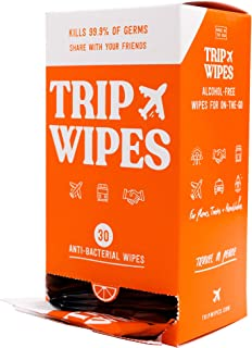 Sponsored Ad - TRIP WIPES - Alcohol-Free Hand Sanitizing Antibacterial Hand Wipes For Planes, Trains, and Handshakes, 30 C...