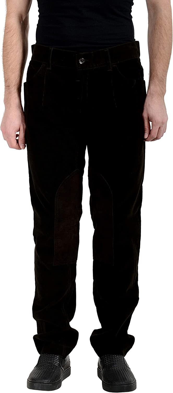 Dolce&Gabbana Men's Corduroy Brown Casual Pants US 34 IT 50