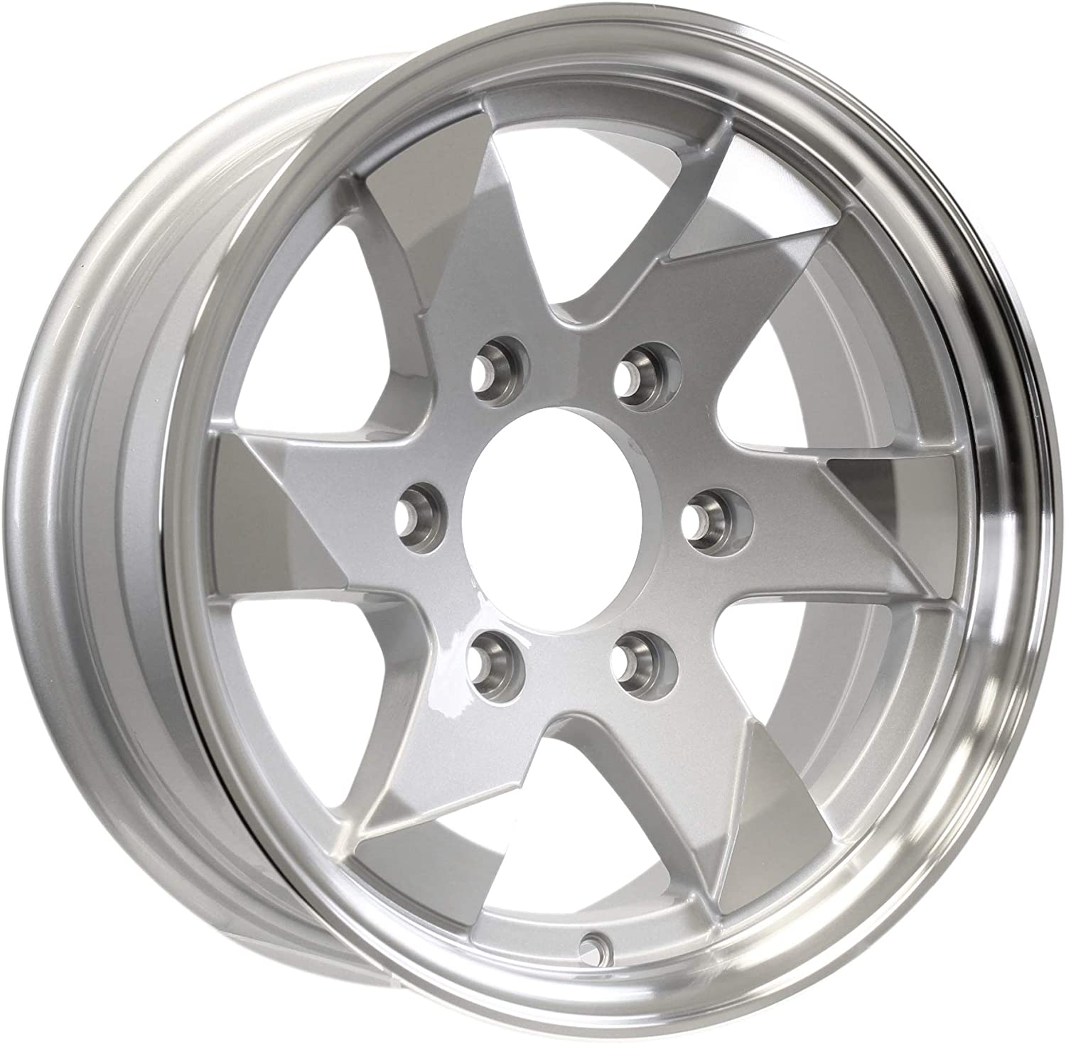2-Pack Aluminum Trailer Wheel 15 Outlet ☆ Free Shipping In. On 6 5.5 Silver Ascent online shopping Lug