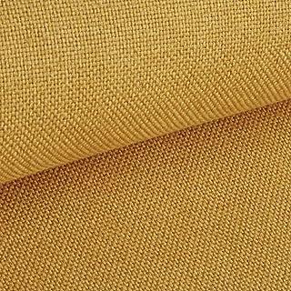 NOVELY Erfurt eleganter Möbelstoff | Ultra CLEAN | SCHWER ENTFLAMMBER | HOCHSTRAPAZIERFÄHIG | ELEGANT 05 Senf Gelb