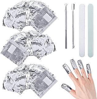 300Pcs Ultra-delgado aluminio Foil Nail Wraps Gel Polish Remover Gel Remover Uñas Gel Elimina Esmalte de Uñas de Gel Ráp...