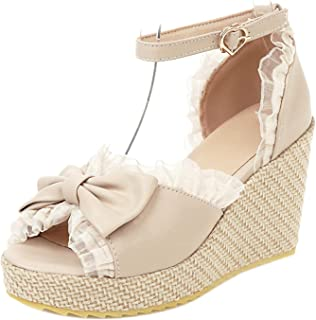 HapyLady Dames Gluren Teen Sandalenen Wighak Zomer Shoes Kant