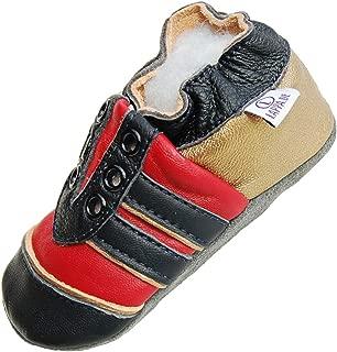 Liya S Chaussures Chaussons pour b/éb/é en Cuir Puschen/ /# 689/Pelle dans gr/ünblau