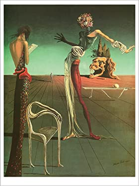 """Poster Woman with A Head of Roses. Salvadore Dali. Art Print Reproduction (16.2"""" x 21.5"""")"""