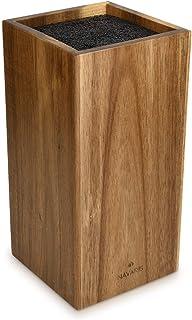 Navaris Porte-Couteaux en Bois - Bloc de Rangement à Couteau Universel en Acacia 24 x 12 x 12 cm - Bloc Couteau de Cuisine...