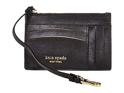 Kate Spade New York Spencer Card Holder Wristlet (Black) Wallet