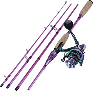 Fishing Gifts Fishing Rod and Reel Combo Set Spinning Fishing Reel and Spinning Rods Fishing Line Lure Bag Hooks Float Ful...