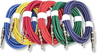 "GLS Audio 12ft Patch Cable Cords - 1/4"" TS To 1/4"" TS Shield"