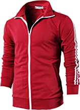 H2H Mens Active Slim Fit Track Lightweight Jacket Zip-up Long Sleeve Training Basic Designed