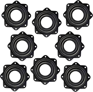 Kasteco 8 Pack 2.8 Inch Lazy Susan Turntable, 5/16 Inch Thick 150 Pound Capacity (Black)