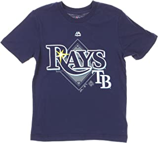 MLB Tampa Bay Rays Big Boys Youth Real Gem Tee, Navy
