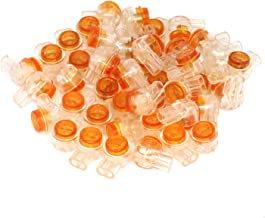 RuiLing 150pcs Waterproof Telephone Line Connectors K1 Network Cable Wire Terminals Gel-Filled Orange Clear Button UY Butt Splice Connector