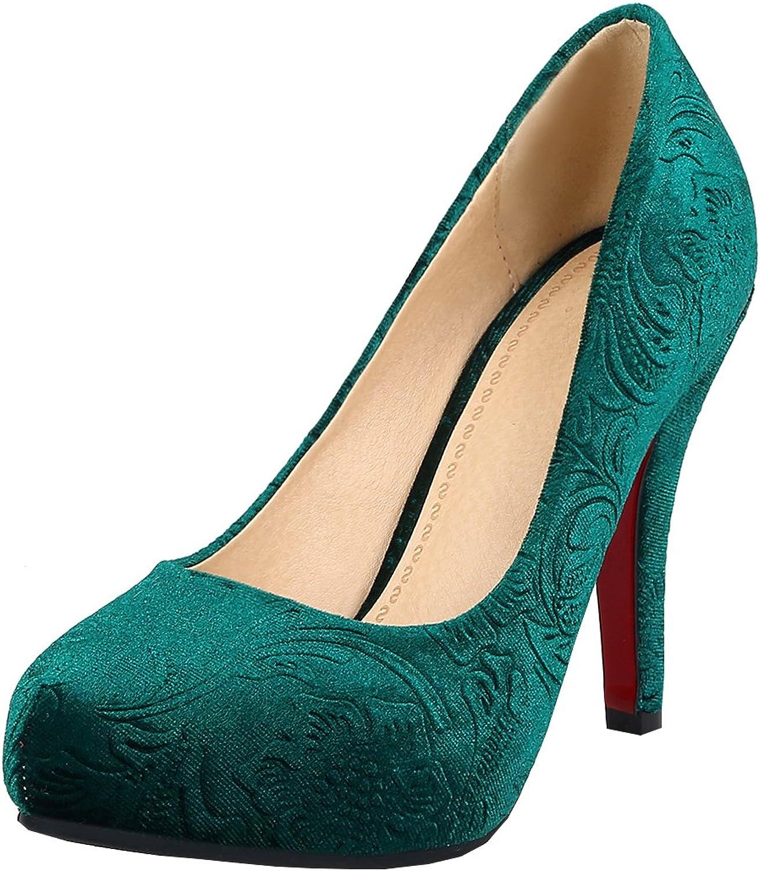 Artfaerie Women's Stiletto High Heel Court shoes with Platform Round Toe Elegant Work Dress Pumps