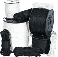 Golberg Solid Braid Nylon Rope - (Black, 1/4 Inch x 100 Feet)