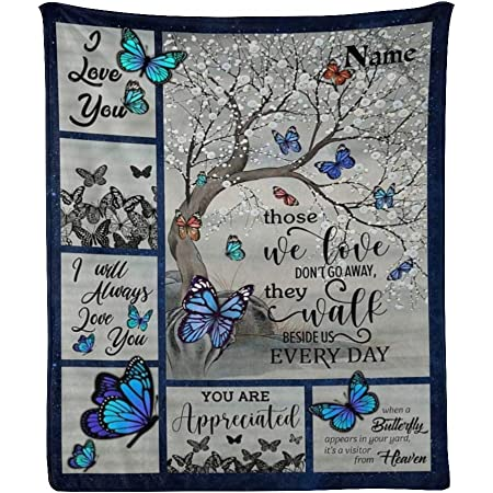 Quilt Blanket When A Butterfly Appears In Your Yard It/'s A Visitor Fleece