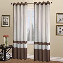 United Curtain Milan Sheer Window Curtain Panel, 54 by 63-Inch, Chocolate