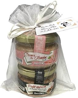 Detalle gourmet con dos tarros de paté (crema de jamón