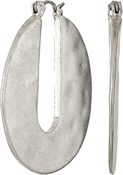 Large Cut Out Hoop Earrings