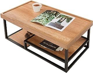 DEVAISE コーヒーテーブル センターテーブル ローテーブル リビングテーブル 幅930*奥行430*高さ400mm 北欧風 一人暮らし おしゃれ MF0048A