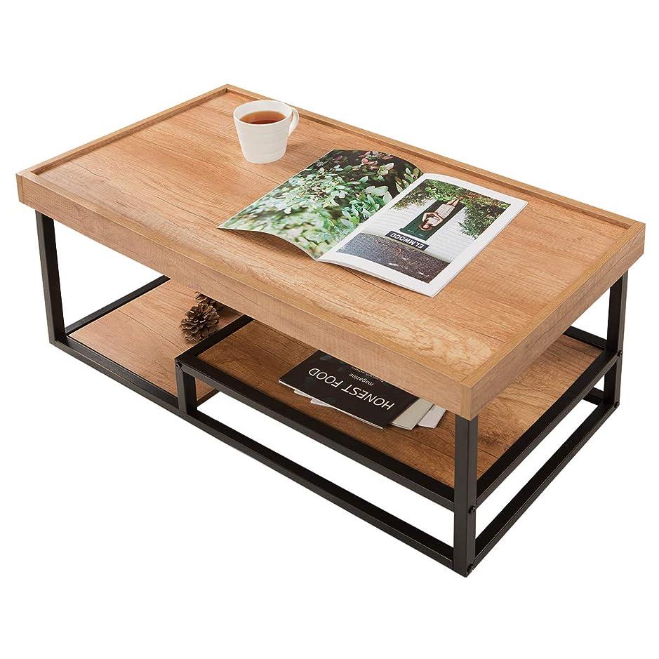 料理をする流星偽物DEVAISE コーヒーテーブル センターテーブル ローテーブル リビングテーブル 幅930*奥行430*高さ400mm 北欧風 一人暮らし おしゃれ MF0048A