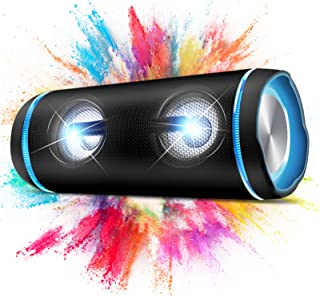 $69 » Sponsored Ad - Portable Bluetooth Speakers, 40W (70W Peak) Wireless 3D Bass Sound Bluetooth Speaker with Party Light, 40H ...