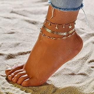 couleur or cr/éatif et utile Ogquaton 3pcs femmes dames cha/îne cheville cheville bracelet pieds nus sandale plage pied bijoux