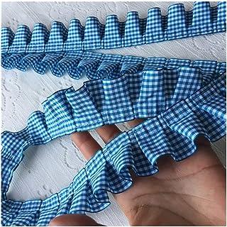 HMYDZ Large Tissu plissée à Carreaux Tulle à Volants en Dentelle Ruban Garniture Bord for Le Collier Appliqué Canapé Ridea...