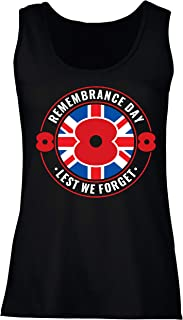 lepni.me Womens Tank Tops Remembrance Day Poppy! - Lest We Forget, Remembrance Sunday