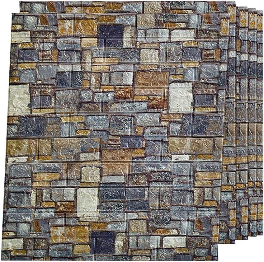3D New arrival Max 78% OFF Wallpaper Wall Panels Brick PE Fo Waterproof Self-Adhesive