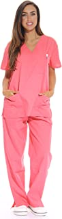 Just Love Women's Scrub Sets Six Pocket Medical Scrubs (V-Neck with Cargo Pant)