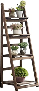 RHF Foldable Ladder Shelf,Plant Stand,Indoor Flower Pot Stand,Flower Pot Ladder,Folding A Framde Display Shelf,Free Standing, Patio Rustic Wood Stand with Shelves,4 Tier Stand Outdoor,Pot Rack
