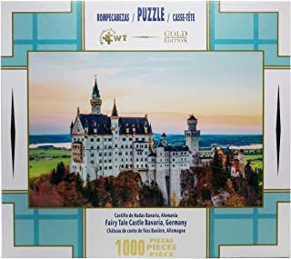 """WUUNDENTOY """"Fairy-Tale Castle Neuschwanstein"""" Gold Edition Jigsaw Puzzles Art for Teen Adult Grown Up Puzzles Large Size Toy Educational Games Gift Jigsaw Puzzle (2201)"""