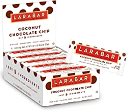 Larabar Gluten Free Bar, Coconut Chocolate Chip, 1.6 oz Bars (16 Count), Whole Food Gluten Free Bars, Dairy Free Snacks