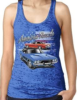 Amdesco Ladies Dodge Challenger Officially Licensed Burnout Racerback Tank Top