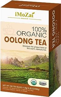 Imozai Organic Oolong Tea Bags 100 Count Individually Wrapped