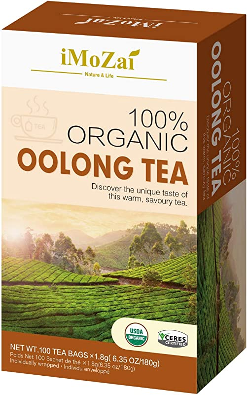 Imozai Organic Oolong Tea Bags 100 Count Individually Wrapped