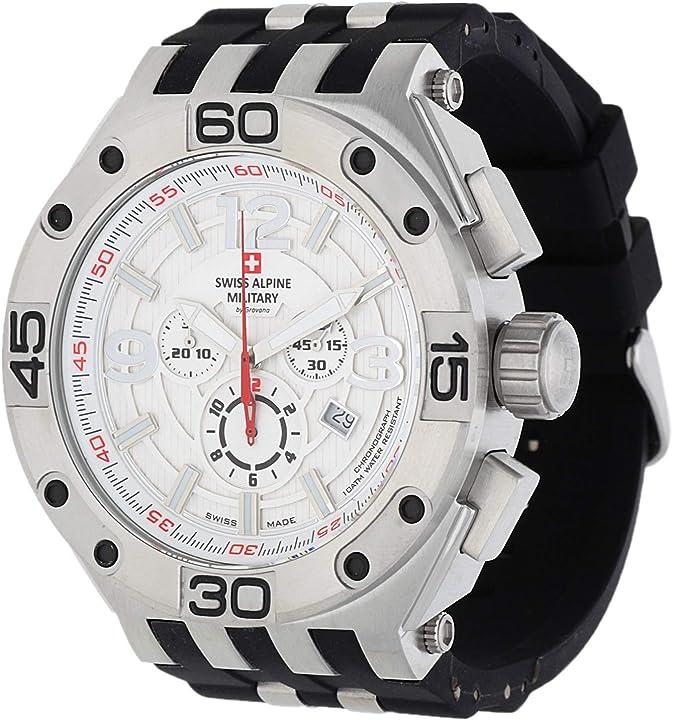 Orologio swiss alpine military 7032.9832 heren horloge 50 mm 7032.9832SAM