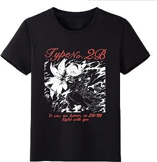 Anime T-Shirt NieR:Automata 2B Game Black Tee Milk Silk M-3XL Round Neck Short Sleeve Tops Cosplay Costume