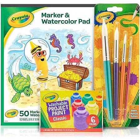 Crayola Kids Paint Set, Craft Supplies, Amazon Exclusive, Ages 3, 4, 5, 6, 7